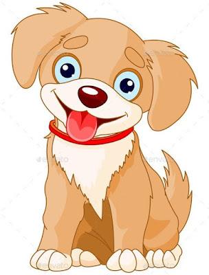 Gambar anjing kartun