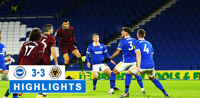 Brighton & Hove Albion vs Wolverhampton Wanderers – Highlights