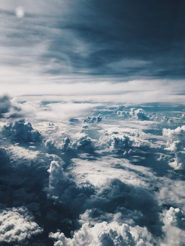 Download Beautiful wallpaper of clouds from above them