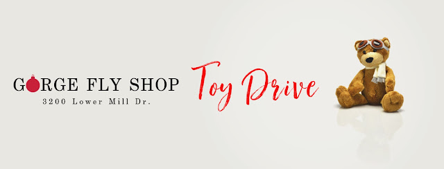 Toy Drop Off at the new Gorge Fly Shop