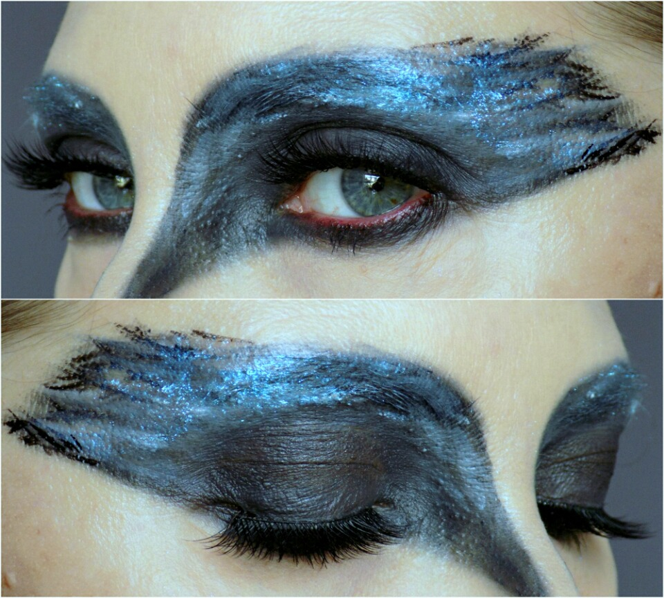 Halloween makeup tutorial: black swan