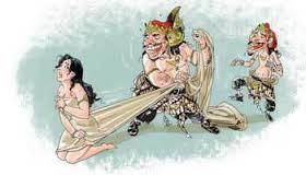 Gambar Karikatur Wayang Kartun Lucu Dewi Shinta Rahwana