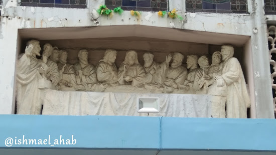 The Last Supper on the facade of San Isidro Labrador Church in Pasay