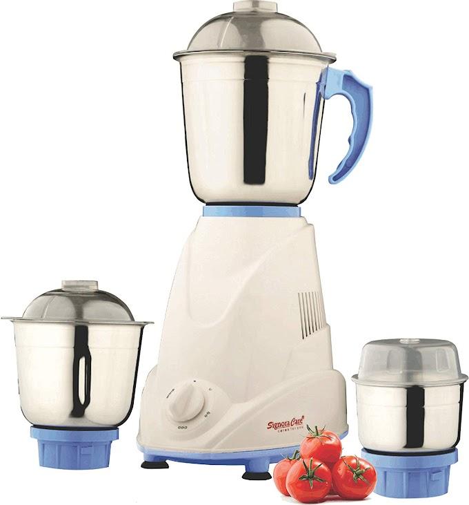 Rs.999/- Signora Care Eco Plus 500-Watt Mixer Grinder with 3 Jars (White)