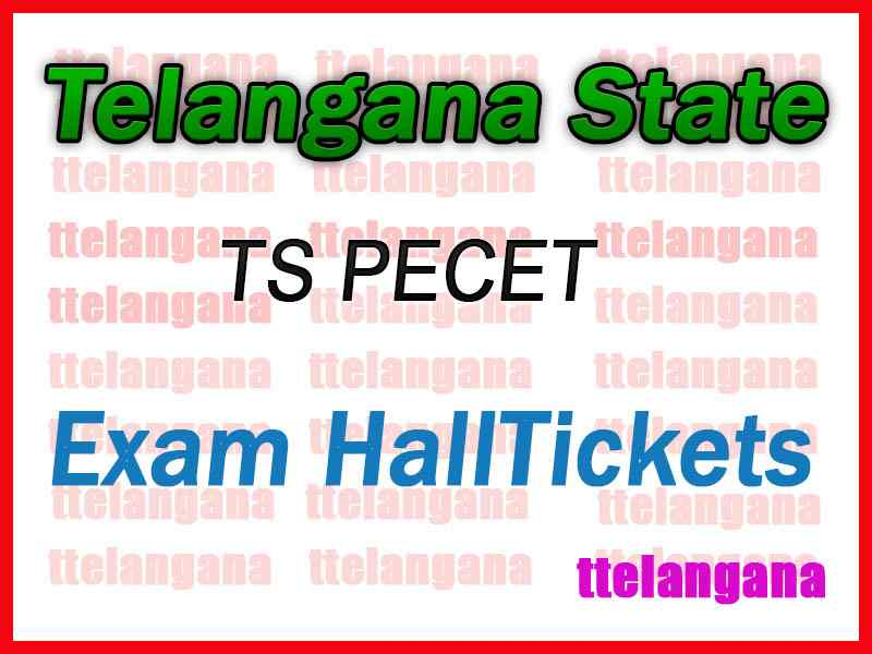 Telangana  PECET HallTicket TSPECET Hall Ticket Download