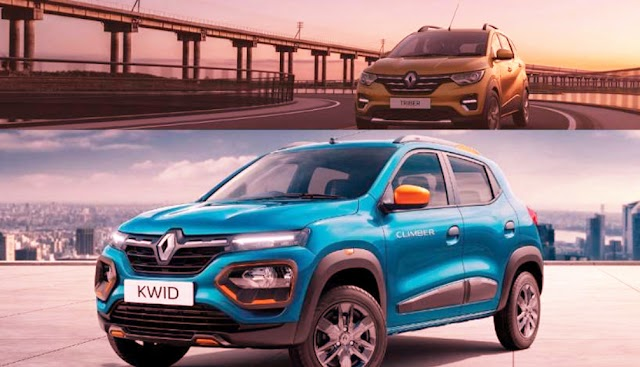 Renault launch BS6 kwid and triber in india.