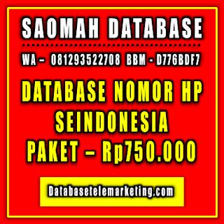 Jual Database Nomor Handphone Paket 3 - Rp750.000