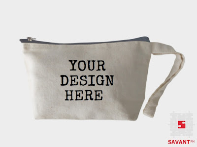 Personalized Canvas Cosmetic Pouch Philippines
