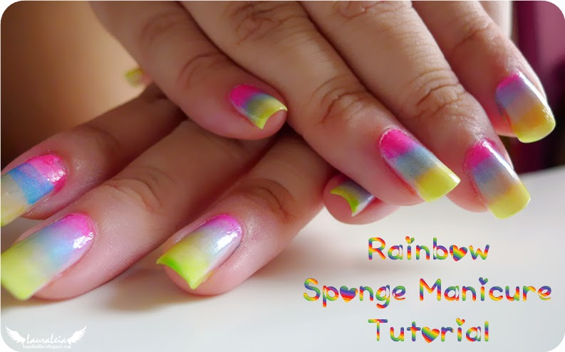 Tutorial: Rainbow Sponge Manicure
