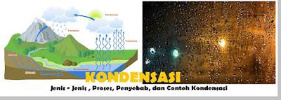 jenis - jenis dan penyebab serta contoh kondensasi