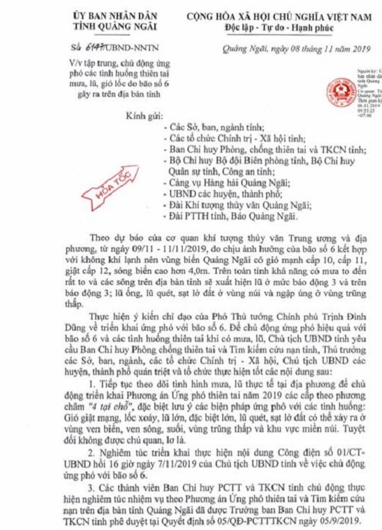 Bão số 6: Học sinh toàn tỉnh Quảng Ngãi được nghỉ học vào ngày 11/11