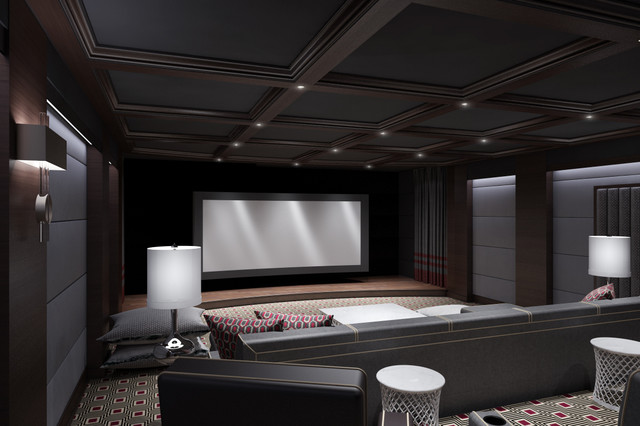 contemporary-media-room Modern Home Theater Design Ideas on modern ceiling design ideas, modern curtain design ideas, modern japanese interior design ideas, modern contemporary bedroom design ideas, modern garage design ideas,