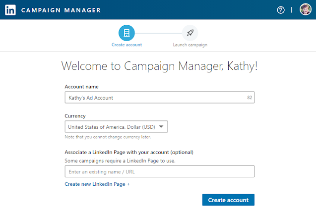 LinkedIn advertising campaign manager dashboard