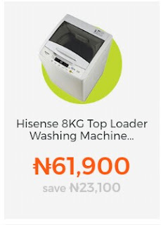 Hisense 8kg Top loader Washing Machine