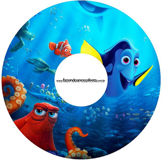 Etiquetas de Buscando a Dory para CD's.