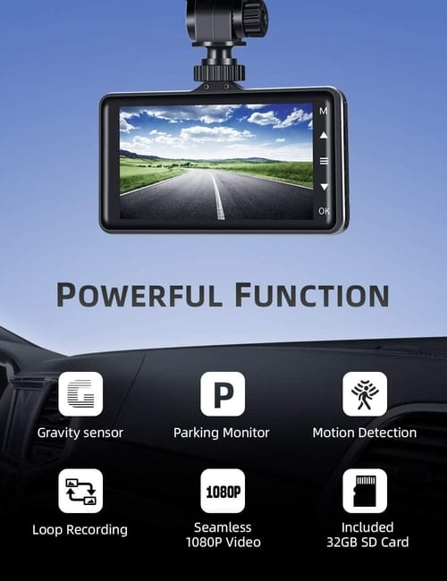 Review IIWEY DC03 Dual Dash Cam  FHD Car Camera