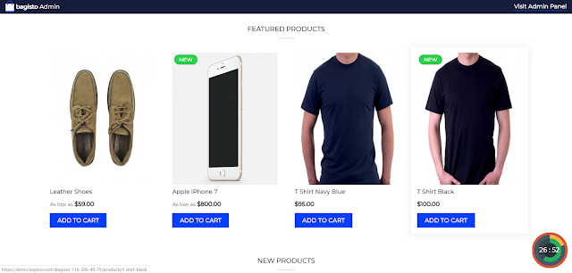 Homepage Products Catalog