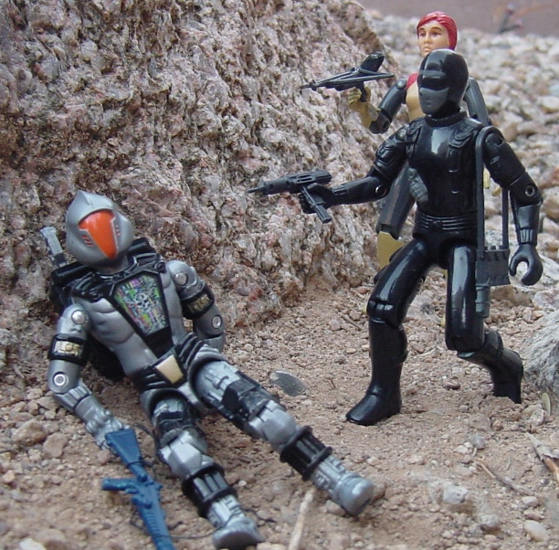 Action Force Stalker, Snake Eyes, European Exclusive, Palitoy, 1982 Scarlett, 2008 Convention Headhunter BAT, Battle Android Trooper