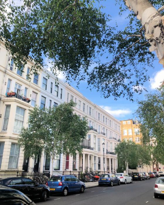 kensington streets in london UK
