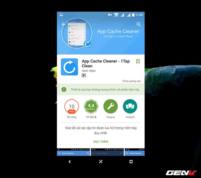 Trường hợp nếu bạn muốn việc dọn dẹp này diễn ra một cách tự động và nhanh chóng, ứng dụng App Cache Cleaner sẽ giúp bạn.