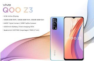 مواصفات وسعر موبايل  فيفو vivo QOO Z3- هاتف/جوال/تليفون فيفو vivo QOO Z3 - البطاريه/ الامكانيات و الشاشه و الكاميرات هاتف فيفو vivo QOO Z3