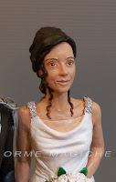statuette personalizzate spose ritratto statuina sposa abito sposa realistico orme magiche