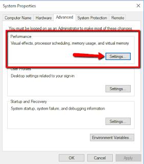 Agar kinerja Windows10 meningkat nonaktifkan Visual effect