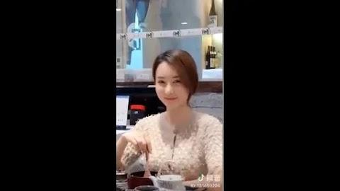 Sweet girl eating dinner alone  [0:12]