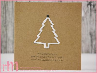 Stampin' Up! rosa Mädchen Kulmbach: Weihnachtskarten in schwarz weiß mit Sternen und Bäumen