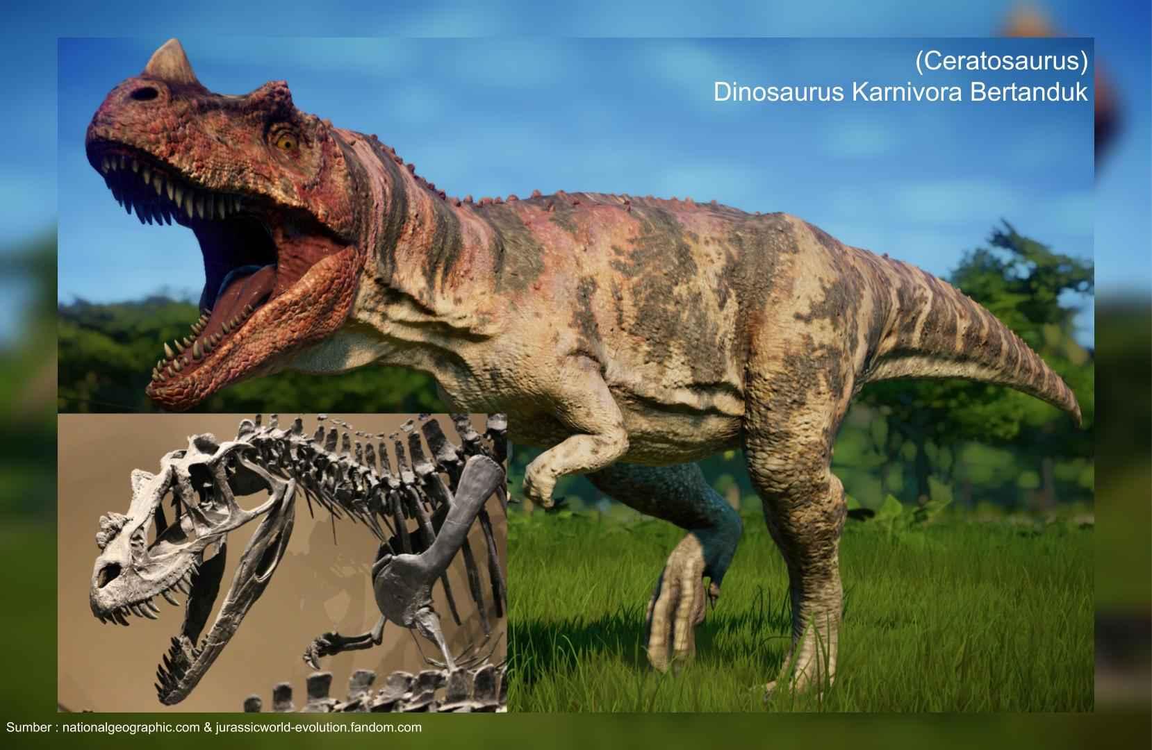 ceratosaurus, kadal bertanduk