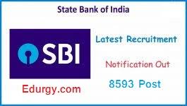 SBI Clerk Recruitment for 8593 Post
