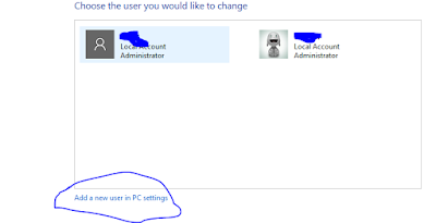 New user in PC Setting