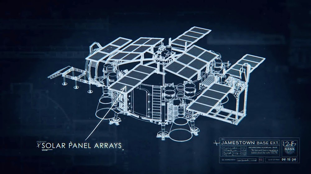 Jamestown Phase 1 US Moon base blueprint in season 1 of 'For All Mankind'