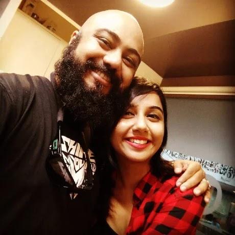 Prajakta Koli with Sudip Lahiri