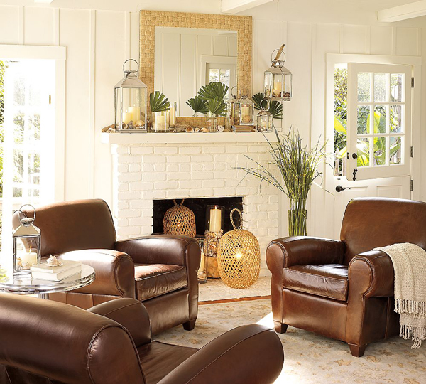 Riches to Rags  by Dori  Fireplace Mantel Decorating Ideas  SOURCE