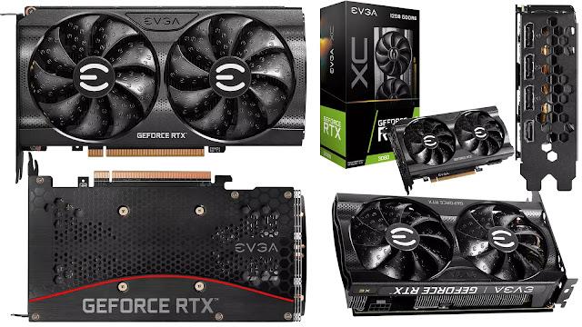 EVGA-GeForce-RTX-3060-12GB-XC-Gaming-Top-Bottom-Side-IO-Back-Box-View