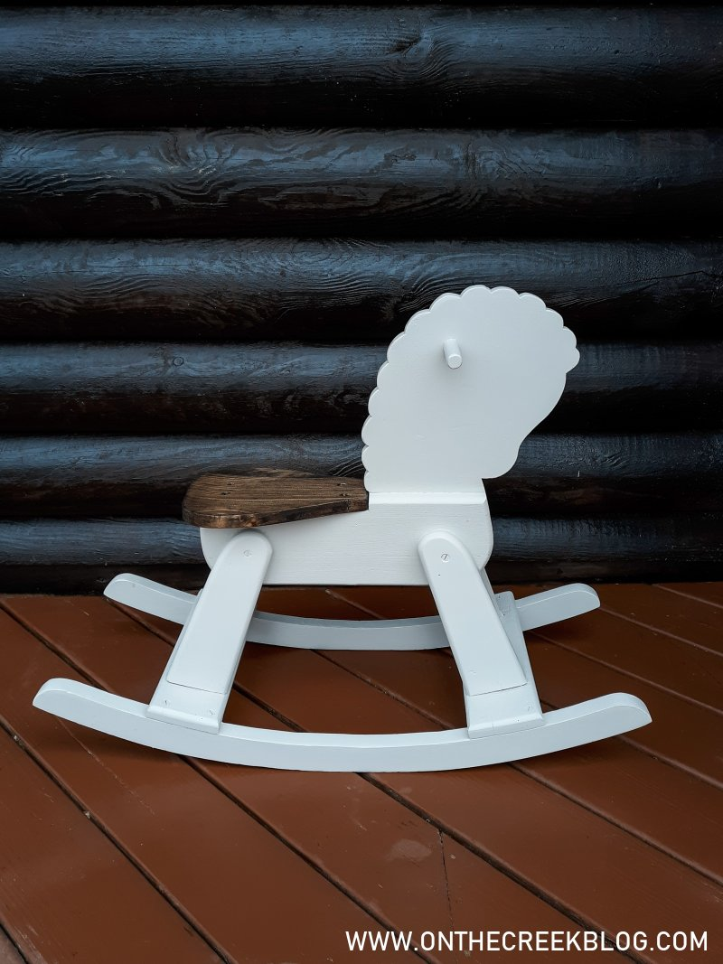 A little rocking horse gets a super cute makeover | On The Creek Blog