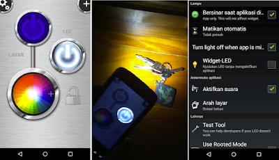 Tampilan Aplikasi FlashLight HD LED Pro