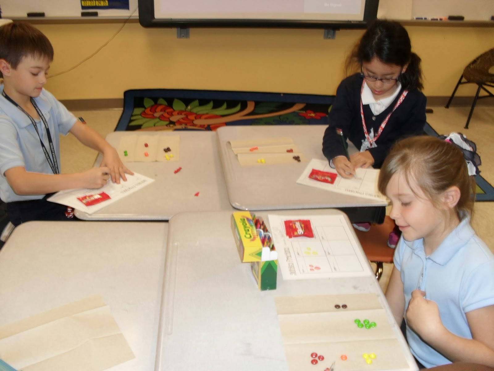 Fractions With Skittles The Land Of 2nd Grade