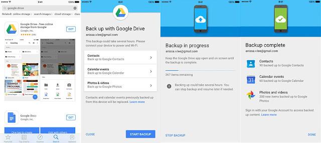 عمل نسخة احتياطية للايفون على Google Drive
