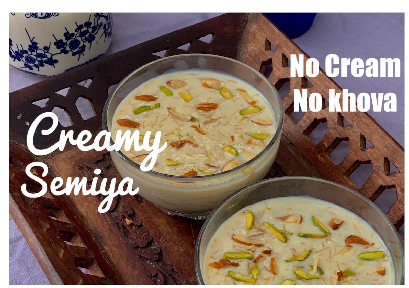 Creamy Custard Semiya No Cream No Khova