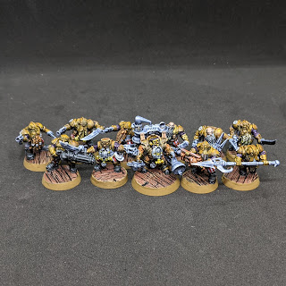 The fully painted Arkanaut Company and Aether Khemist to complete Month 1