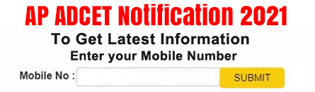 Andhra Pradesh ADCET 2021 Notification