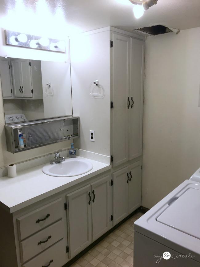 bathroom vanity side