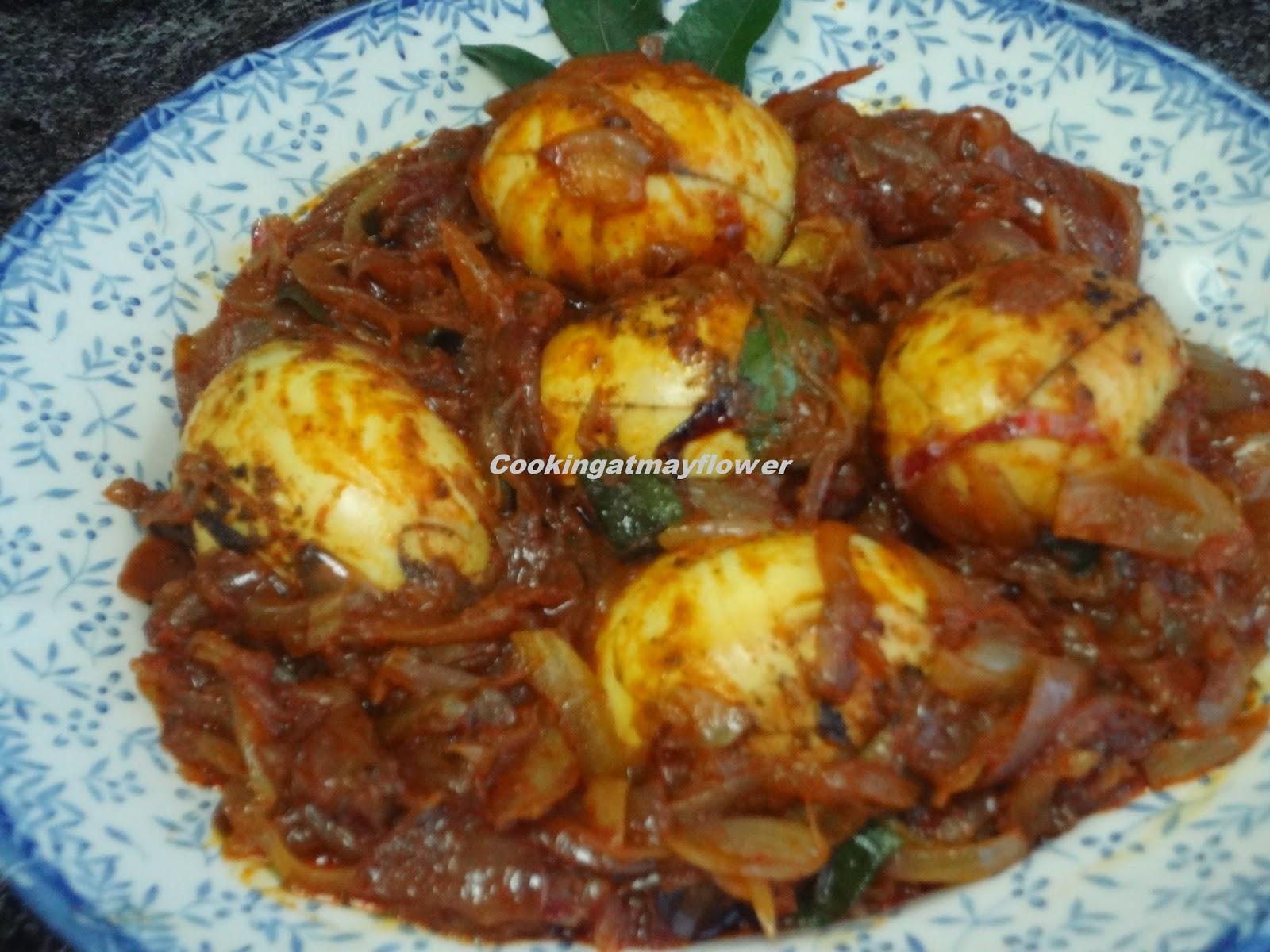Cooking at mayflower kerala egg roast mutta roast for Cuisine kerala