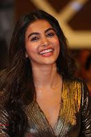 Pooja Hegde looks glamarous in deep neck sleevless short tight golden gown at Duvvada Jagannadham thank you meet function 151.JPG