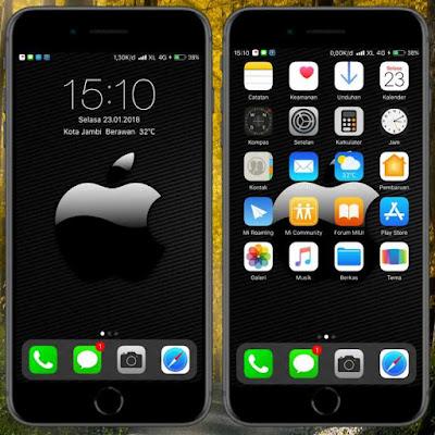 Tema New iOS Black untuk Xiaomi