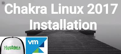 Chakra Linux 2017 Installation