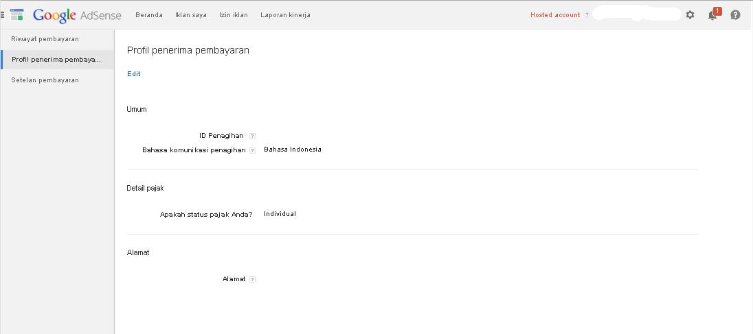cara mudah setting profil adsense mudah dan cepat