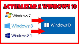 Actualizar a windows 10 desde windows 7 y windows 8